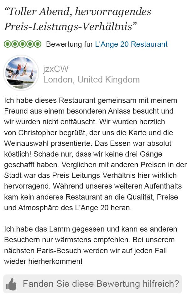 Erfreut Schreiben Sie Restaurant Erfahrung Zeitgenössisch - Beispiel ...