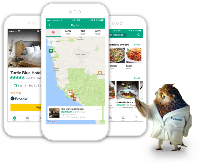 Tripadvisor read reviews compare prices book for Plan book app