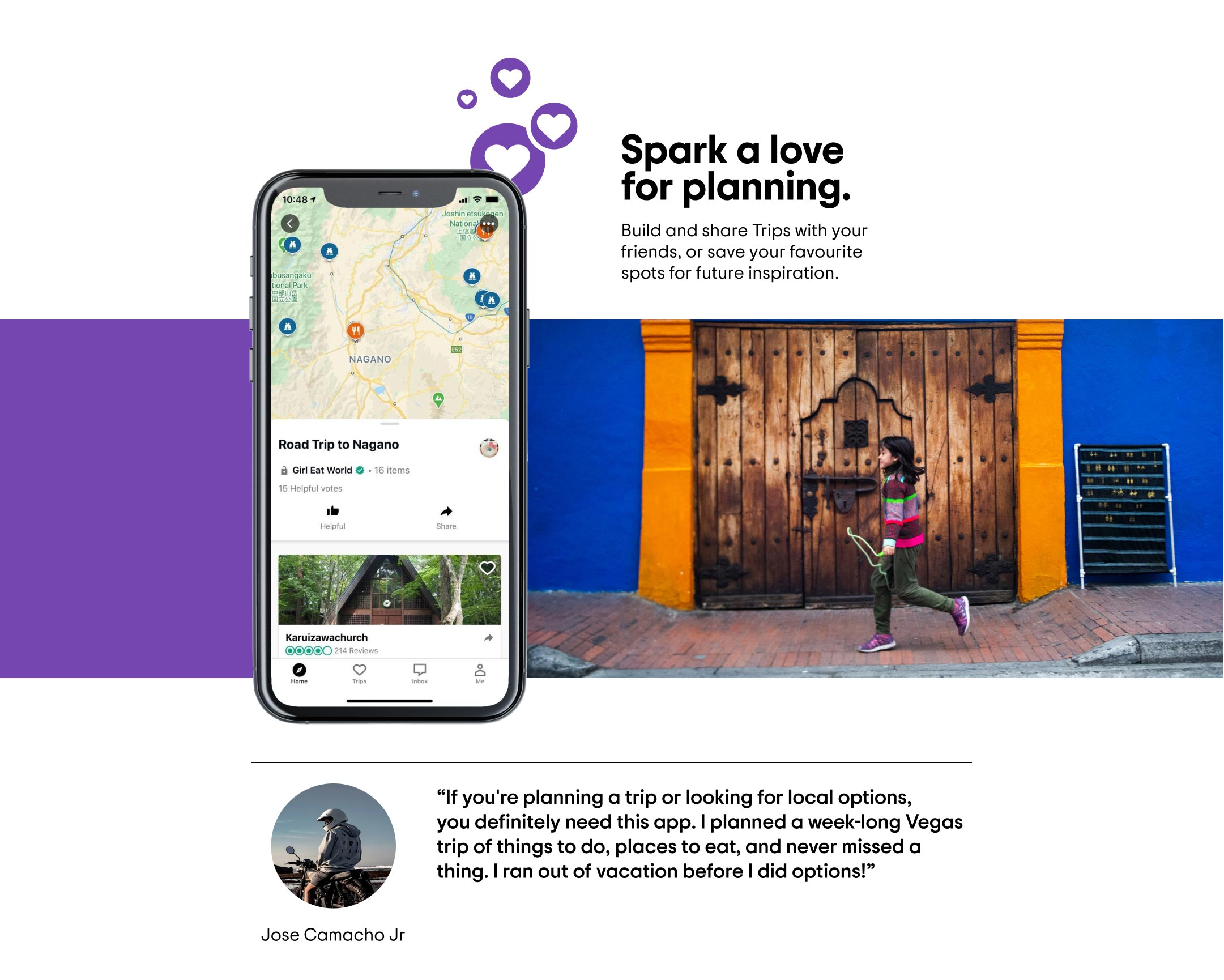 Plan your dream trip on a map and save your favourite travel recommendations.