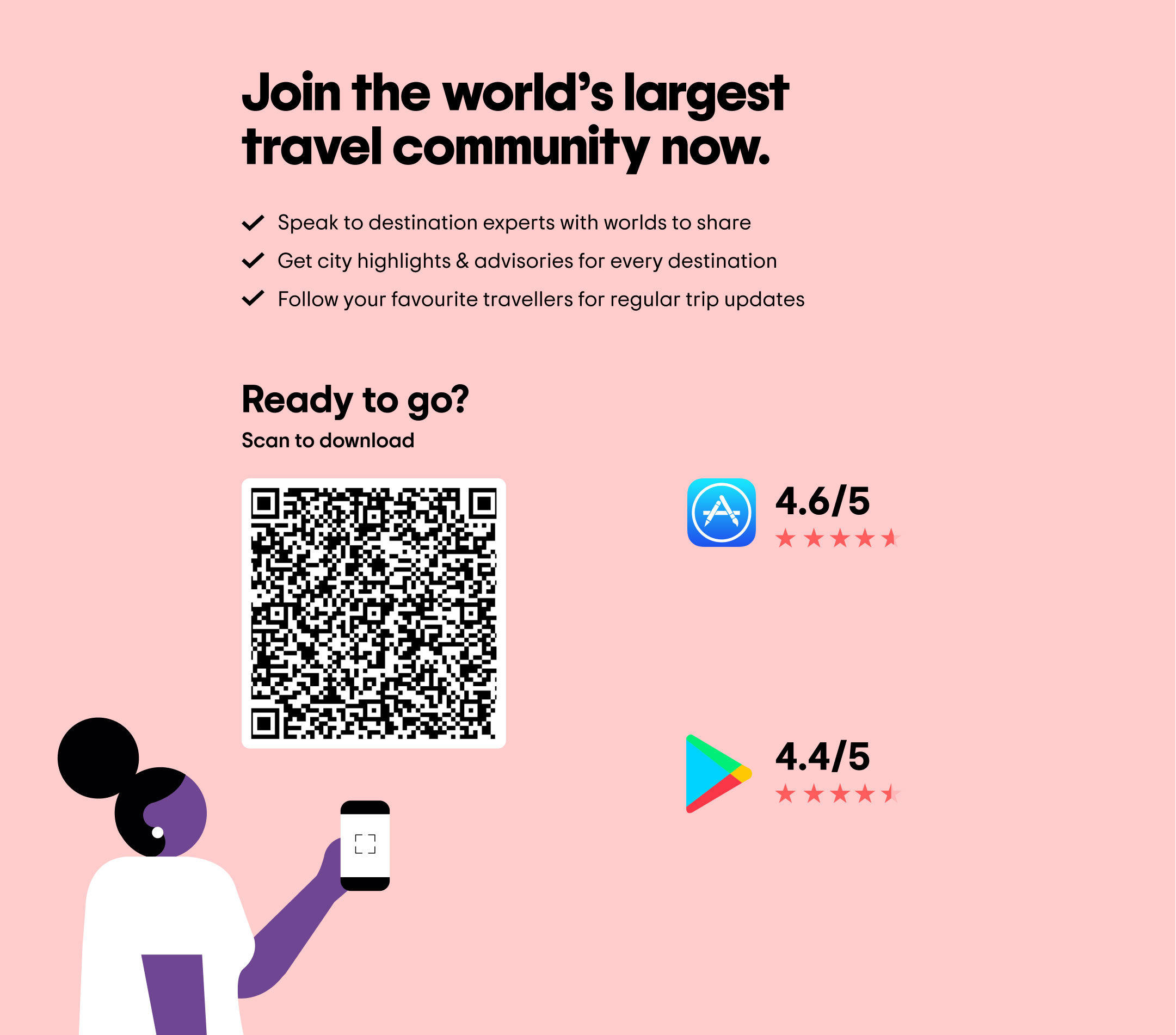 Join 463+ million travellers like you, and get the latest updates and advisories for destinations all around the world.