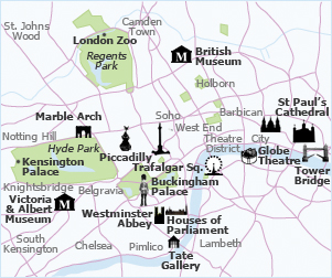 Map Of London Attractions Yes London Tourist Attractions